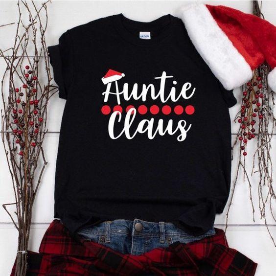 Auntie Christmas T-Shirt AZ6D