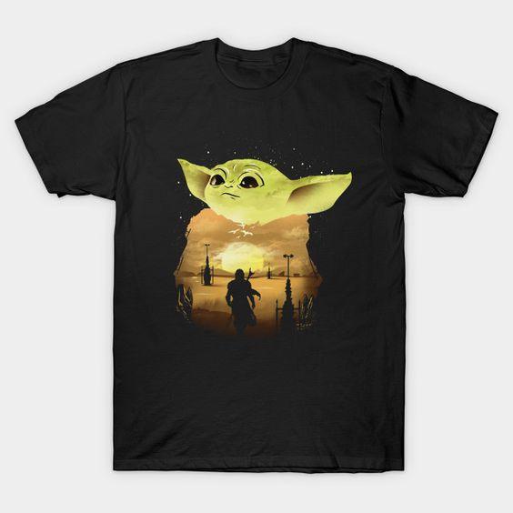 Baby Yoda Sunset t-Shirt DL24D