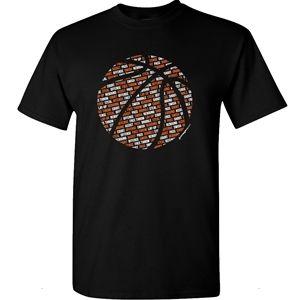 Basketball Text Black T-Shirt VL9D