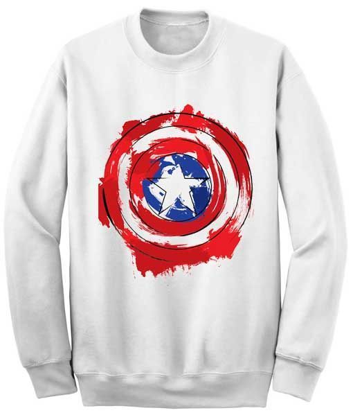 Captain America Shield Sweatshirt VL3D