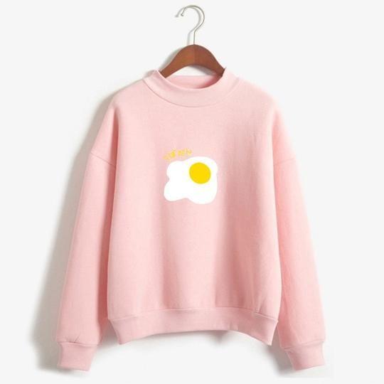 Egg Print Sweatshirt AZ5D