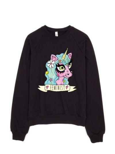 Feminist Unicorn Sweatshirt VL3D