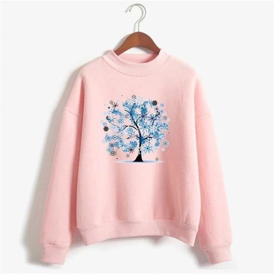 Snowflakes Tree Sweatshirt AZ5D