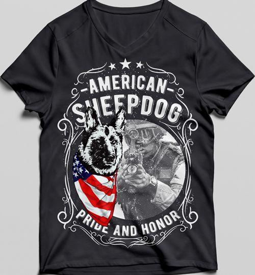 American Sheepdog Tshirt ZR29F0
