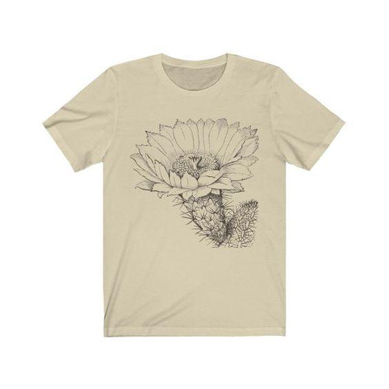 Vintage Cactus Flower Tshirt ZR29F0