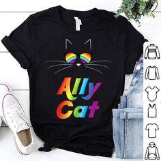 Ally Cat Rainbow Tshirt Ty21M0