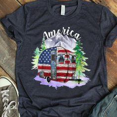 America Camping Tshirt TY21M0