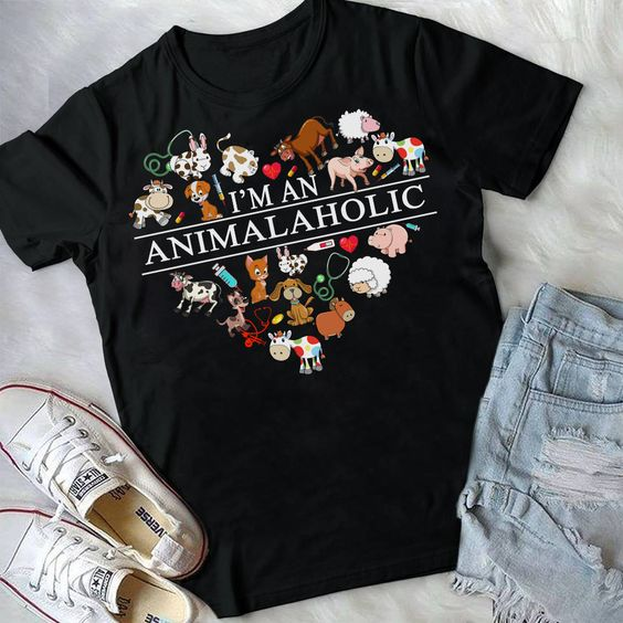 Animalaholic T Shirt SP16M0