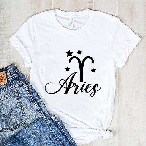 Aries Zodiac T Shirt AN30M0