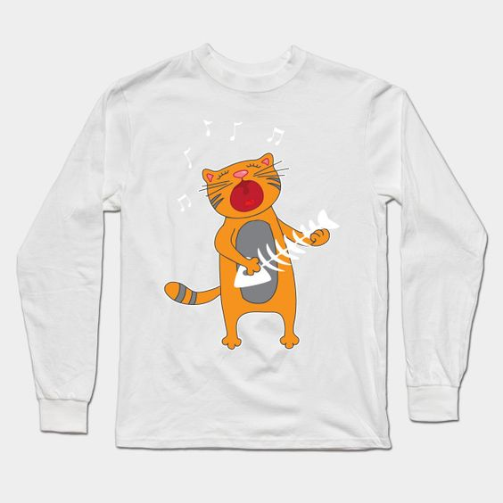 Cat Playing Fish Bone Sweatshirt TA28M0