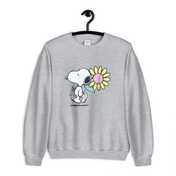 Snoopy pink daisy flower Sweatshirt DF24M0