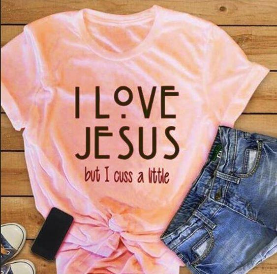 I love jesus Tshirt ZL9A0