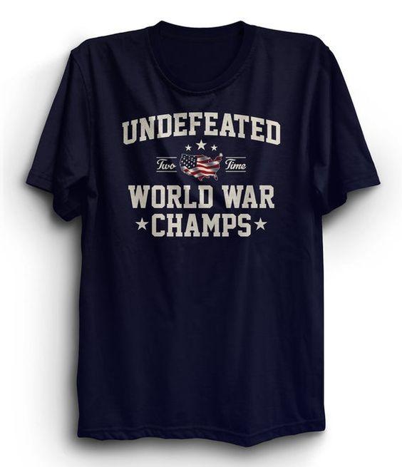 Undefeated World War T-Shirt ND9A0