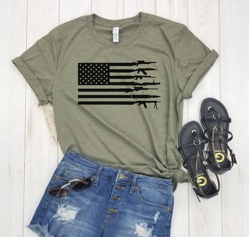 American Flag Guns Shirt FD13JL0