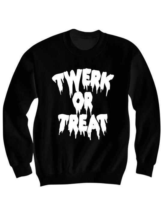 Twerk or Treat Halloween Sweatshirt AL28AG0