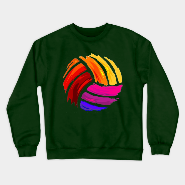 Watercolor Volleyball Sweatshirt SR10N0