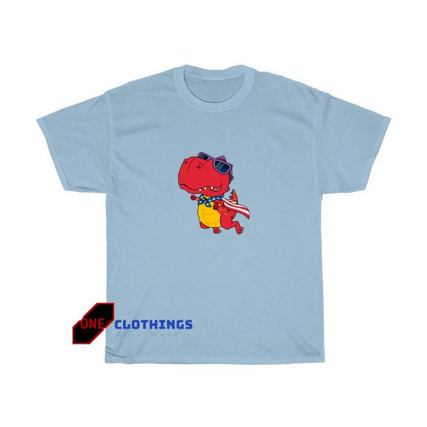 America Dino Superhero Tshirt SR14D0