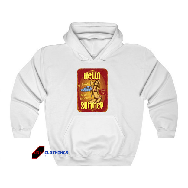 Advertising Girl Beach Hoodie LS27JN1