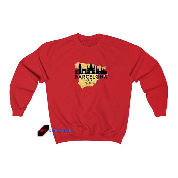 Barcelona Spain sweatshirt SY18JN1